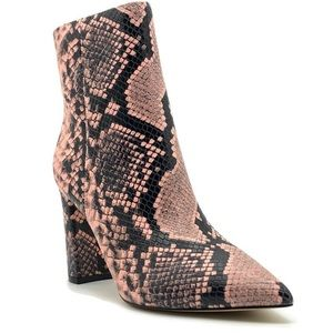 Marc Fisher LTD Ulani Embossed Pink Pointed Bootie